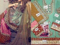 Pukhraj Chiffon Bridal Dress in Pakistan