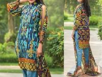 Satrangi Embroidered Cambric Cotton Dress 1-B in Pakistan