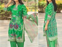Satrangi Embroidered Cambric Cotton Dress 2-B in Pakistan