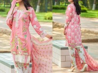 Satrangi Embroidered Cambric Cotton Dress 4-A in Pakistan