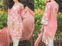 Satrangi Embroidered Cambric Cotton Dress 4-B in Pakistan