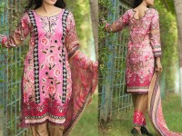 Satrangi Embroidered Cambric Cotton Dress 5-A in Pakistan
