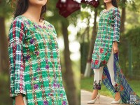 Satrangi Embroidered Cambric Cotton Dress 6-A in Pakistan