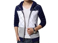 Stylish Men's Winter Hoodie - Navy Blue in Pakistan