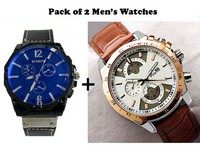 Curren & Casio Watches Combo Pack in Pakistan