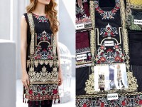 Embroidered Black Lawn Dress with Chiffon Dupatt in Pakistan