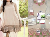 Embroidered Chiffon Dress with Jamawar Trouser in Pakistan