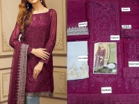 Designer Embroidered Chiffon Dress in Pakistan