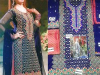 Embroidered Chiffon Suit with Jamawar Trouser in Pakistan