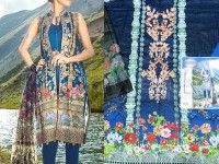 Embroidered Cotton Lawn Dress with Chiffon Dupatta  in Pakistan