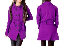 Women's Fleece Winter Coat - Purple in Pakistan