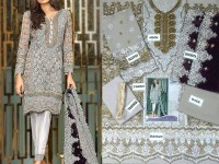 Heavy Embroidered Chiffon Party Dress in Pakistan