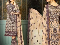 Heavy Embroidered Skin Chiffon Dress in Pakistan