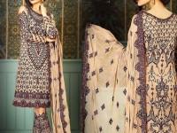 Heavy Embroidered Skin Chiffon Dress in Pakistan