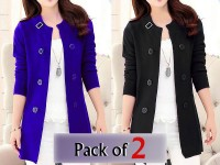 Pack of 2 Korean Style Ladies Fleece Coats in Pakistan
