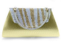 Girls Fancy Clutch Bag - Golden