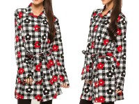 Ladies Floral Chinese Winter Coat - White in Pakistan
