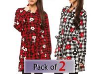 Pack of 2 Ladies Floral Winter Coats in Pakistan