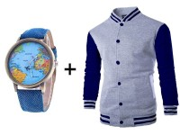 Men's Baseball Jacket & Watch Combo Pack in Pakistan