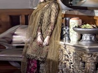 Graceful Embroidered Chiffon Dress with Velvet Trouser in Pakistan