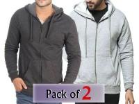 Pack of 2 Zip-Up Hoodies For Men in Pakistan