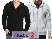 Pack of 2 Zip-Up Hoodies For Men in Pakistan
