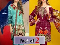 Pack of 2 Embroidered Cotton Dresses of Your Choice in Pakistan