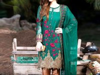 Embroidered Green Chiffon Dress in Pakistan