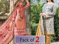 Pack of 2 VS & Star Printed Lawn Suits in Pakistan