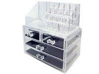 4 Drawer Acrylic Transparent Cosmetic Makeup Organizer in Pakistan