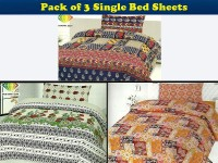 Pack of 3 Single Bed Sheets in Pakistan