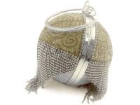 Luxury Ball Shaped Diamante Bridal Clutch - Silver in Pakistan
