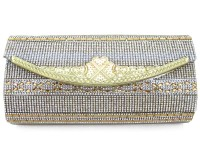 Golden Fancy Clutch Bag