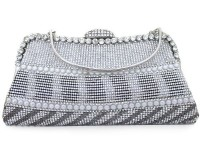 Fancy Silver Clutch Purse in Pakistan