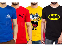 Pack of 3 Random Colors & Logo T-Shirts in Pakistan