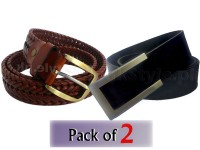 Pack of 2 Men's Leather Belts of Your Choice in Pakistan