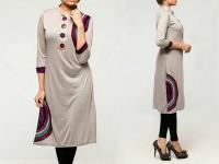 Printed Ladies Viscose Kurti - Grey in Pakistan