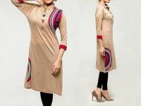 Printed Ladies Viscose Kurti - Skin in Pakistan