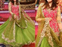 Embroidered Chiffon & Net Bridal Lehenga Dress in Pakistan