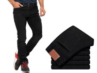 Men's Straight Fit Jeans - Black Price in Pakistan
