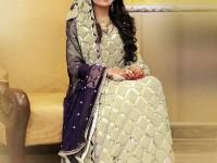Embroidered Chiffon Maxi Dress in Pakistan