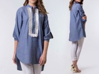 Readymade Stylish Denim Top for Girls in Pakistan