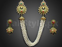 Heavy Pearl Mala Bridal Jewellery Set in Pakistan