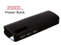 20000mAh Power Bank with 3-USB Ports & LED Torch in Pakistan