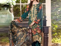 Embroidered Green Lawn Suit with Net Dupatta in Pakistan