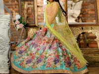 Embroidered Chiffon Frock with Net Dupatta in Pakistan