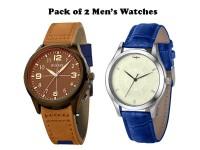 Pack of 2 Elegant Men's Watches in Pakistan