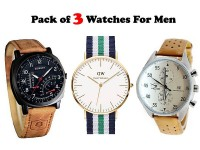 Pack of 3 Stylish Men's Watches in Pakistan