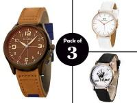 Combo Pack of 3 Men's Watches in Pakistan