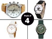 Combo Pack of 4 Men's Watches in Pakistan